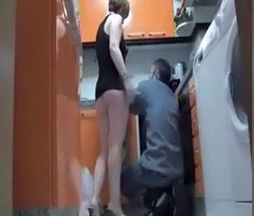 Ass HiddenCam Kitchen  Voyeur Plumper Milf Ass Spy