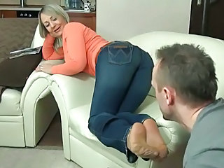 Feet Fetish Jeans Mature Blonde Mature Footjob Foot  Nylon