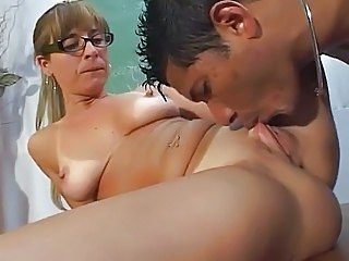 Glasses Licking  Pussy  Shaved Teacher Ass Licking Pussy Licking Milf Ass Licking Shaved