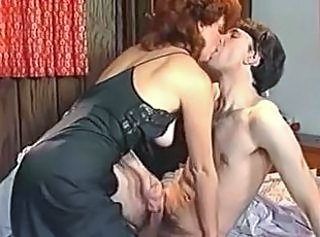 Handjob  Mom Old and Young Redhead Vintage Old And Young