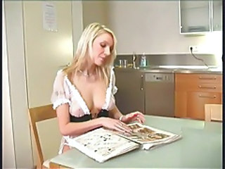 European French Kitchen  French Milf French + Maid Kitchen Sex European French
