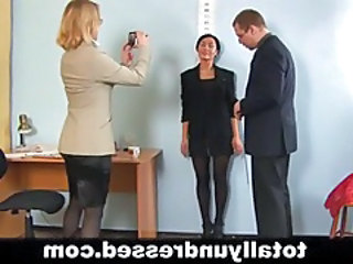 Casting Office Secretary Threesome Interview