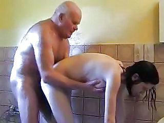 Daddy Daughter Doggystyle Old and Young Showers Teen Young Grandpa Old And Young