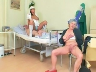 Nurse Old and Young Riding Threesome Uniform Grandpa Old And Young Nurse Young