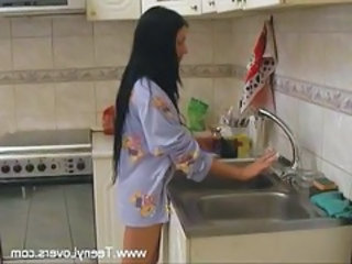 European Kitchen Wife Punish Cheating Wife European