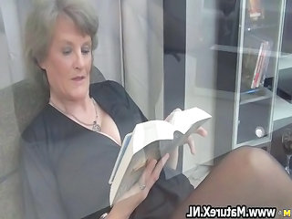 Mature Office Maid + Mature Nylon