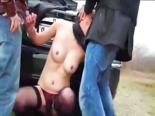 Blowjob Car French Outdoor Stockings Threesome Car Blowjob Outdoor Stockings French Threesome Brunette