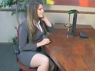 Hairy  Office Secretary Public Asian Public