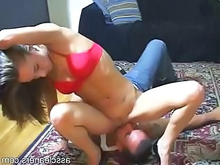 Facesitting Femdom Licking Mistress Ass Licking