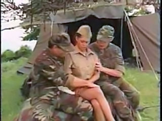 Army  Outdoor Threesome Uniform Outdoor Milf Threesome Threesome Milf