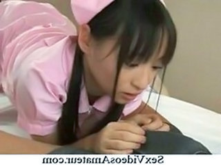 Asian Japanese Nurse Teen Uniform Cute Blonde