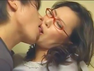 Asian Glasses Japanese Kissing Mature Mom Old and Young Mature Ass Glasses Mature Japanese Mature