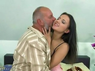 Cute Daddy Daughter Old and Young Teen Cute Teen Cute Brunette Grandpa Old And Young Teen Cute