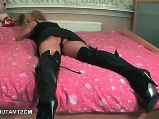 Fetish Mature Blonde Mature Leather