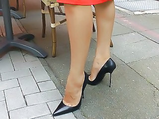Fetish Legs Outdoor High Heels