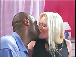 Blonde Interracial Kissing  Blonde Interracial Interracial Blonde