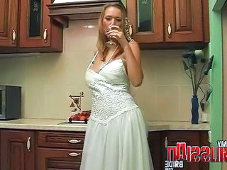 Bride Drunk Kitchen  Russian Russian Milf