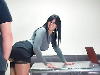 Amazing Brunette Bus Glasses  Office Secretary Stockings Stockings Milf Ass Milf Stockings Milf Office Office Milf