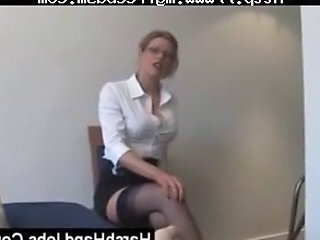 Blonde Glasses Handjob  Pov Secretary Stockings Femdom Handjob Stockings Bdsm Milf Ass Milf Stockings Slave Ass