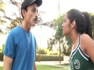 Cheerleader Daddy Old and Young Outdoor Teen Uniform Teen Daddy Cheerleader Daddy Old And Young Outdoor Dad Teen Outdoor Teen Teen Outdoor