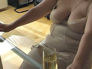 Chubby Lingerie Wife Footjob Foot Lingerie