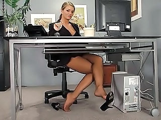 Babe Feet Fetish Legs Office Secretary Stockings Office Babe Stockings