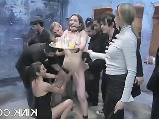 Fetish Party Slave Maid + Busty Slave Busty