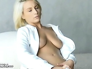 Blonde European  Toy European Vibrator