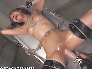 Asian Bondage Fetish Machine Orgasm