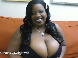 Big Tits Ebony  Natural Tattoo Monster