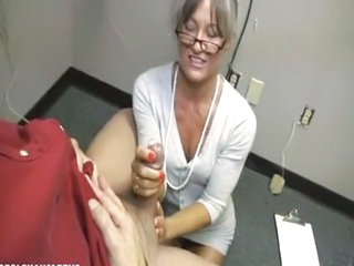 Glasses Handjob Mature Older