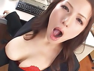 Amazing Asian Japanese  Natural Office Secretary