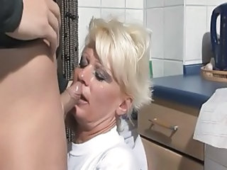 Blowjob European German Kitchen Mature German