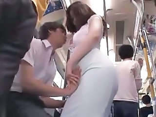 Asian Blowjob Bus Handjob Public Public
