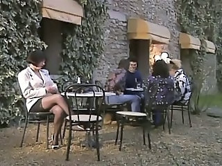 European French  Outdoor Pornstar Public Stockings Vintage French