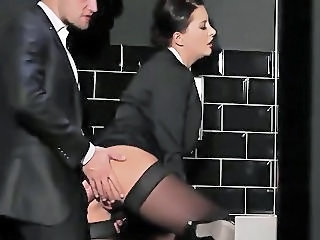 Clothed Doggystyle  Secretary Stockings Toilet Stockings