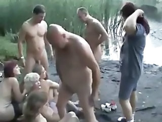 Daddy Family Groupsex Old and Young Orgy Outdoor Party Orgy