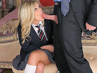 Amateur Blonde Blowjob Stripper Teen Uniform Daughter Boss