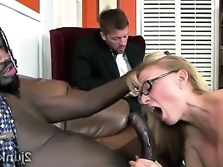 Blowjob Interracial Mature Office Secretary Boss