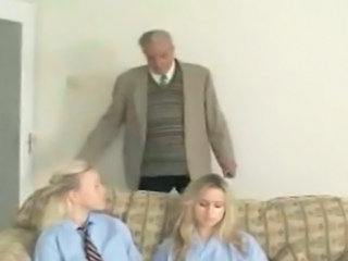 European Old and Young Spanking Teen Uncle