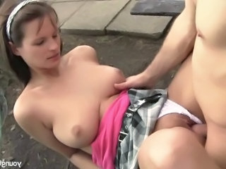 Babe Big Tits Blowjob  Natural Outdoor