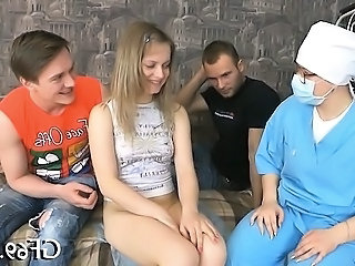 Doctor Interracial Teen Threesome Uniform Virgin