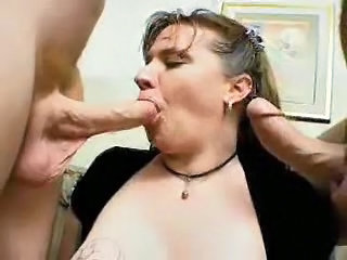 Blowjob Chubby  Natural Threesome