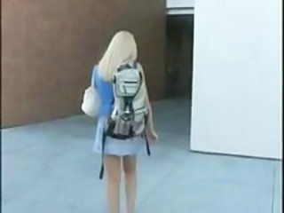 Blonde European Public Student Teen College