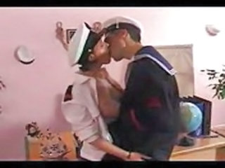 Amazing Army Kissing Office Uniform