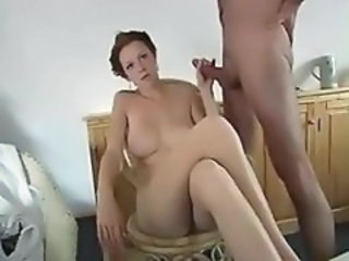 Amateur Handjob Homemade  Natural Wife