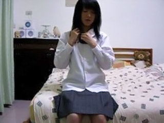 Amateur Asian Student Teen Uniform