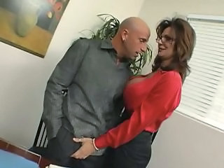 Amazing Big Tits  Office Pornstar Secretary Boss