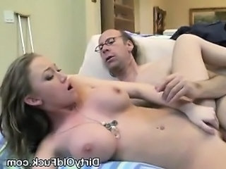Daddy Daughter Old and Young Silicone Tits Teen Dirty