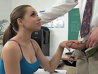 Cute Handjob Old and Young School Student Teacher Teen